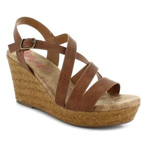 NWT Jelly pop Alaotra Brown Tan Wedges